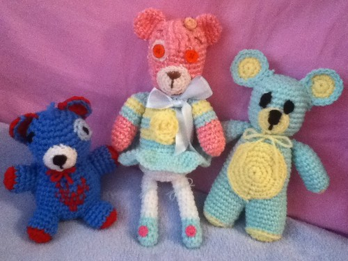 Three Amigurumi Bears