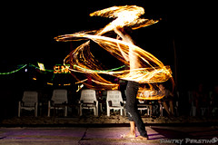 Fire Dancers at Koh Phi Phi Thailand (Dmitry Perstin) Tags: longexposure light lightpainting beach thailand island fire asia dancer firespinning firedancing kohphiphi firepoi firetwirling fireperformance firemanipulation
