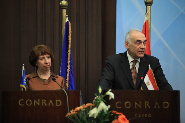 Joint press conference held by Catherine Ashton and Mohamed