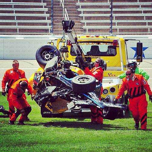 Dan Wheldon crash aftermath at Texas Motor Speedway. #irl  #racing