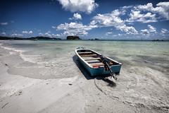 (enrico valenti) Tags: sea sky green beach boat mare blu spiaggia ladigue seychelle