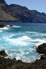 "Swirls in ""Punta de Teno"" , Emerald waters"