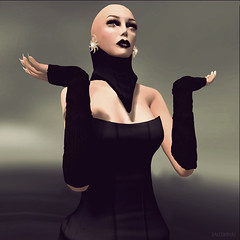 Exclusive [AD]dress! (Saleena Hax) Tags: beauty fashion mesh boots ad makeup style earrings hautecouture couture drift morningsun elegance hax lwl blacklady creativefashion delmay finesmith