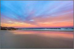 Friendly sunset (Aaron.J.r.S) Tags: sunset sea sky color canon sand pretty paradise australian australia shore shutter tasmania tasmanian canonefs1022mm freycinetnationalpark friendlybeaches canon60d photoshopelements10