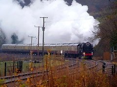 A Brit of Allright (Jim the Joker) Tags: train pacific railway railtour steamengine brittania stokesay 70000 462 yuletideborderer