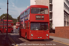 DMS 198              24/7/1980 (colinfpickett) Tags: dm lt daimler dms vintagebus classicbus jgf198k