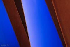 Þema: Línur og form (eirikurtor) Tags: blue sculpture iceland rust ísland ryð kópavogur fossvogur blár listaverk canoneos7d canonefs1585mmf3556usmis