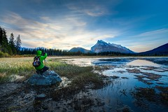 Vermillion Lakes, Banff - Canada (James.McGregor) Tags: park sunset lake canada nature clouds sunrise canon reflections landscape dawn james long exposure colours dusk wildlife columbia national alberta banff british 1740l mcgregor 5dmk2
