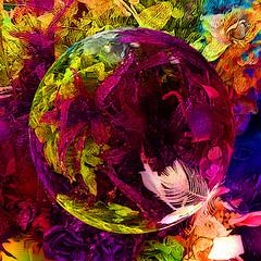 Winter Mixture (abstractartangel77) Tags: flowers color floral globe bright vivid sphere hypothetical vividimagination iphoneimage awardtree