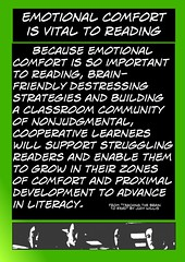 "Educational Resource:  ""Emotional comfort is vital to reading"" (Ken Whytock) Tags: school reading community education support classroom grow ears friendly emotional teachers comfort learn literacy cooperative strategies proximaldevelopment"