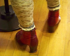 One-Step Toe Tap (Renee Rendler-Kaplan) Tags: she red chicago feet leather december gbrearview floor boots kodak burgundy awesome saturday there kicks tradition kodakeasyshare tap ankle lacy gapersblock 2012 wbez chicagoillinois tapping chicagoist onestep renegadecraftfair soawesome reneerendlerkaplan forusatleast 7thannualrenegadecraftfairholidaymarket justlookathershoesandsocks
