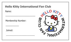 Hello Kitty International Fan Club membership card design (Jay Tilston) Tags: hello club fan kitty card membership
