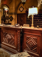 "Tower of Terror Front Desk - Disneyland • <a style=""font-size:0.8em;"" href=""http://www.flickr.com/photos/85864407@N08/8239523617/"" target=""_blank"">View on Flickr</a>"