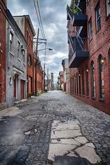 Alley (PSchneid221) Tags: street nyc brick alley jerseycity nj cobblestone hudson hoboken