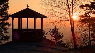 Pavillon auf dem Gohrischstein  (sunrise)