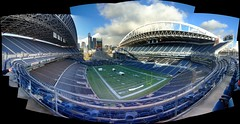 Century Link Field - SW corner (JohnSeb) Tags: seattle autostitch usa football stadium nfl wa seattleseahawks americanfootball johnseb seattlevancouver2011