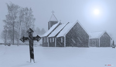 Silence (bent inge) Tags: old winter snow church graveyard norway norge cross snowy ironcross 2012 rogaland rdal kirkegrd hjelmeland ryfylke renesanse bentingeask askphoto rdaloldchurch rdalgamlekirke renesansekirke