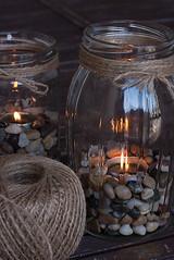 Tea Lights In Jars (dushonok) Tags: light home glass diy candles jar gravel