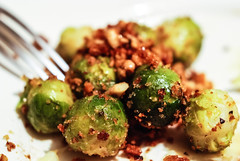 Brussels sprouts (stijn) Tags: brussels food vegetables bread walnut crumbs sprouts watatenzijnl