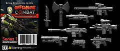 Offensive Combat Series 1 (BrickArms) Tags: lego badger peregrine libertine auger battleaxe arbiter u4ia brickarms combatknife legogun legoweapon offensivecombat furrberg m82ferret