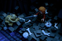 Riddles In The Dark (JustinR.) Tags: dark lego scene gollum hobbit tolkien bilbo jrrtolkien jrr thehobbit the in riddles riddlesinthedark