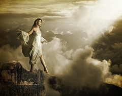 faith (Max Short) Tags: cliff woman clouds faith belief fantasy stepping imagination believing blinkagain