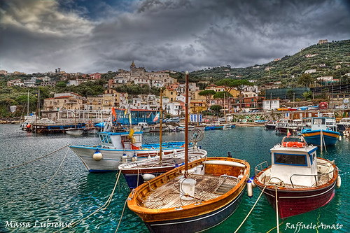 Massa Lubrense, italian fishing village HDR