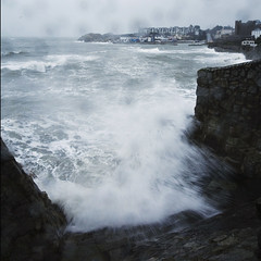 full force of gale & Spring tide at Bulloch! (Wendy:) Tags: sea wave gale splash dalkey hightide sandycove bulloch easterly springtide bullochharbour 1740lmm
