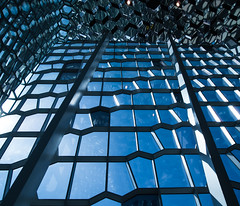 Harpa (jonas_k) Tags: blue light building architecture modern island licht iceland opera centre capital reykjavik convention architektur glas olafureliason harpa