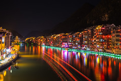 Zhen Yuan Wuyang River (Ben-ah) Tags: zhenyuan guizhou china nightscene light neon reflection traillights miao longexposure wuyangriver wuyang pagoda