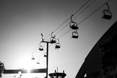 Chairlift (federicophotography) Tags: federico photography federicophotography black white bw blackandwhite monochrome greyscale nikon fair orange county gondolas lift pentax 35mm d750