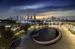 Colours of the Bay (Ashley Matthew Teo) Tags: singapore urban landscape cityscape city blue hour sunset twilight lights hdr dri epic luminosity curves marina barrage asia travel explore lee filters 09 soft gnd colours