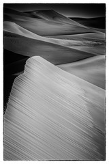 First Light and Shadow (jfusion61) Tags: colorado great sand dunes national monument morning summer black white monochrome shadow landscape sunrise nikon d810 70200mm