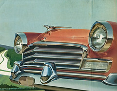 1956 Chrysler Windsor (coconv) Tags: car cars vintage auto automobile vehicles vehicle autos photo photos photograph photographs automobiles antique picture pictures image images collectible old collectors classic ads ad advertisement postcard post card postcards advertising cards magazine flyer prestige brochure dealer 1956 chrysler windsor 56 mopar art illustration drawing painting