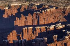 pinnacle of layers (democritus21) Tags: canyonlandsnationalpark monumentbasin rockformations sedimentaryrock utah geology pinnacles sandstone canyonlands ut usa
