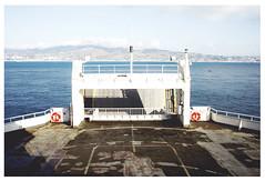 . (Angela Malavenda) Tags: caronte strettodimessina sea mare strait sicily sicilia calabria southern sud italy passing crossing summer holiday lifebelt salvagente orizzonte horizon deck