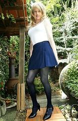 Nice Work Day (Amber :-)) Tags: navy mini kilt tgirl transvestite crossdressing