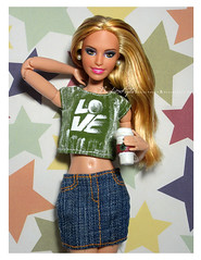 New Handmade dress By me ( Barbie Style...!!) Tags: handmade dress dolls doll disney dresses love print suraj patole cutie cute barbie barbiedoll blond summer style