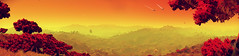 Love Birds (D u b l) Tags: video games hello no mans sky nms havoc space trees grass sunset ships trails foliage floating islands