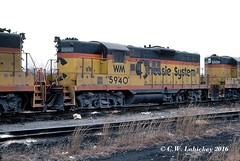 WM 5940 on 1-6-79 (C.W. Lahickey) Tags: wm emd gp9 connellsville