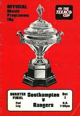 Southampton v Rangers 19741001 (tcbuzz) Tags: southampton football club the dell england texaco cup programme