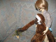 Confrontation 002 (EmpathicMonkey) Tags: bjd bluefairy olive toby happy monkey photo story ball jointed dolls toys
