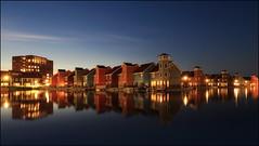 Summernight (jeanny mueller) Tags: groningen holland niederlande netherlands night stars architecture blue bluehour house haven reitdiephaven