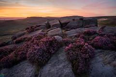 Burbage Rocks Afterglow (James G Photography) Tags: uploadedviaflickrqcom burbage burbagerocks sunset afterglow heather peakdistrict peaks gritstone