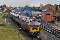 Diesel hydraulic locomotive on the Severn Valley Railway (garstangpost.t21) Tags: d1062 svr kidderminster western dieselhydraulic