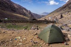 Toubkal refuge campsite