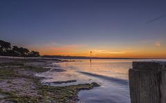 Avon Beach Dawn (nicklucas2) Tags: dawn sea seaside seaweed groyne seascape beach beachhut