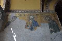 Haga Sophia Interior 22 (Ingo_D) Tags: istanbul turkey church mosque architecture byzantine hagasophia interior mosaic johnthebaptist virginmary christ