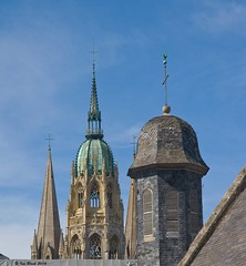 Towers and spires (ianhb) Tags: france bayeux cathedral gothic stone