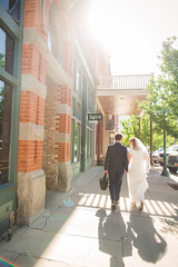 shadows (KieraJo) Tags: wide angle canonef24mmf14liiusm l lens canon 5d mark 3 iii 5d3 fullframe dslr bokeh provo city center utah downtown red brick color walking holding hands buildings street wedding bride groom love couple marriage behind back shadow light airy